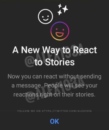 Instagram Stories react