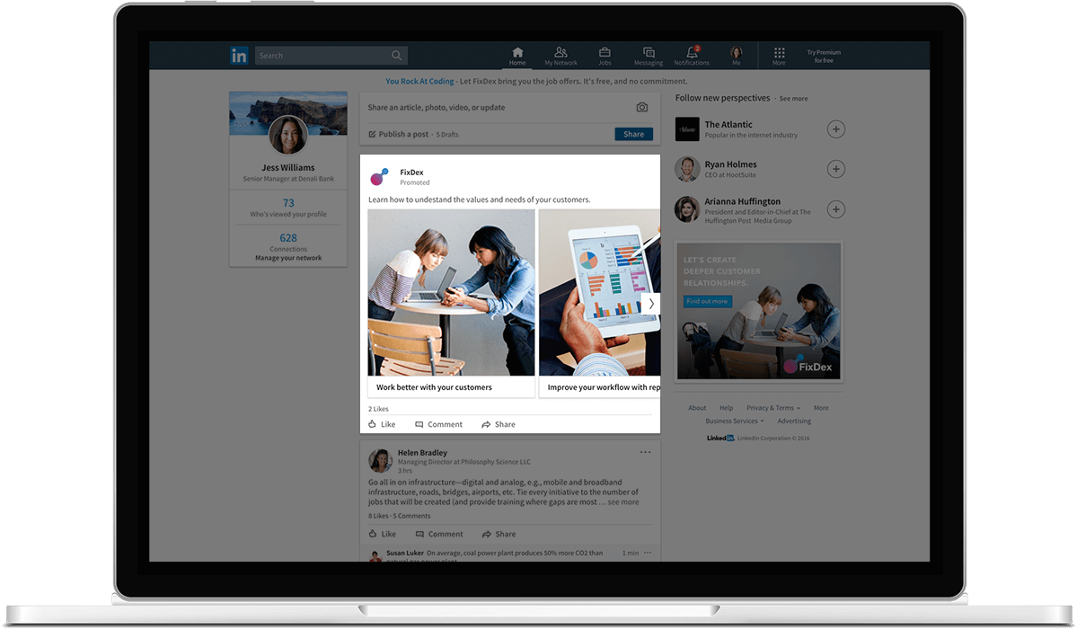 LinkedIn Adds Carousel Ads for Sponsored Content | Social Media Today