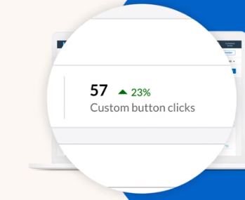 LinkedIn custom button analytics example