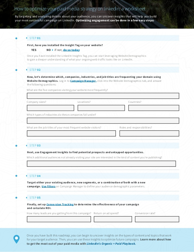LinkedIn Paid Media Worksheet
