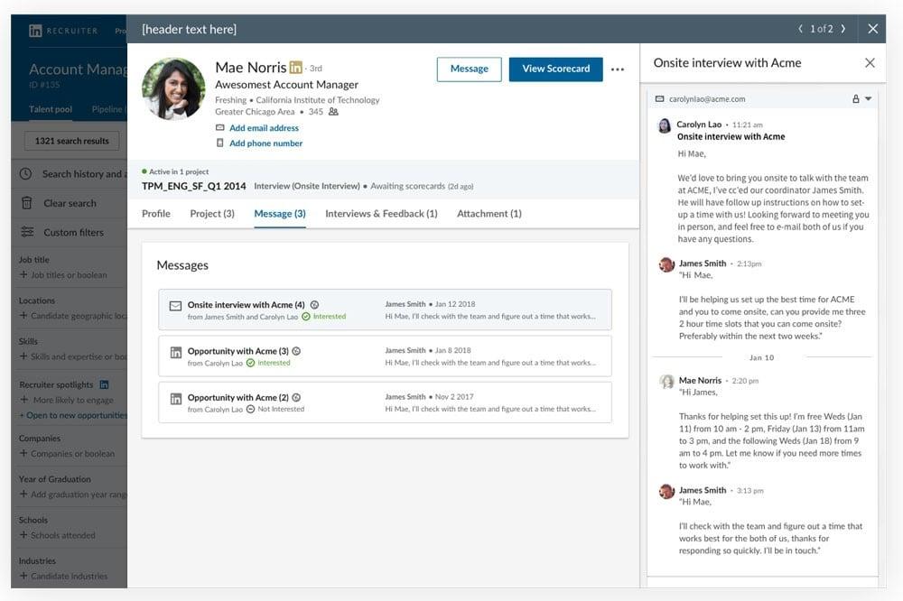 LinkedIn Recruiter update 2019