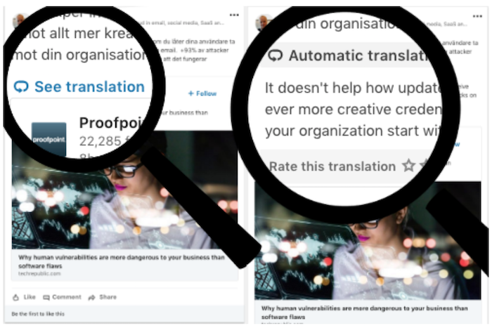 LinkedIn post translation tools