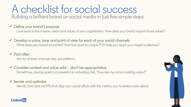 LinkedIn social media marketing checklist