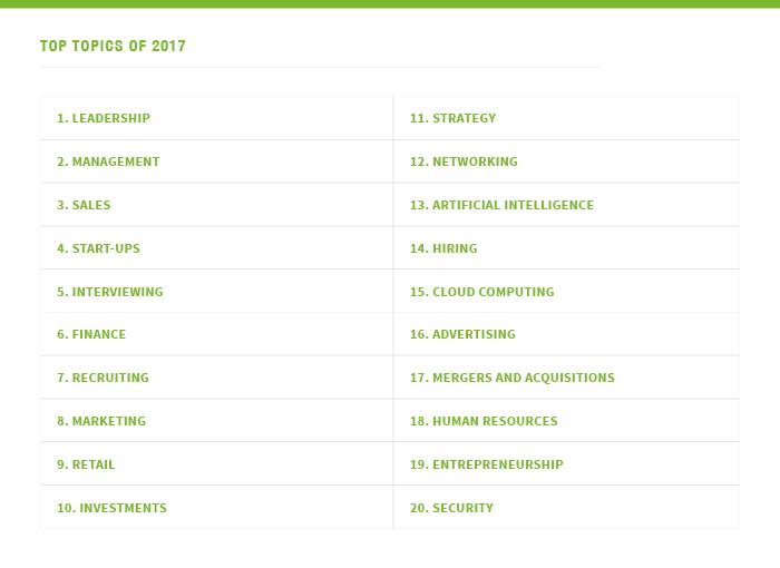 LinkedIn proporciona datos sobre el mejor contenido en su plataforma en 2017 | Social Media Today