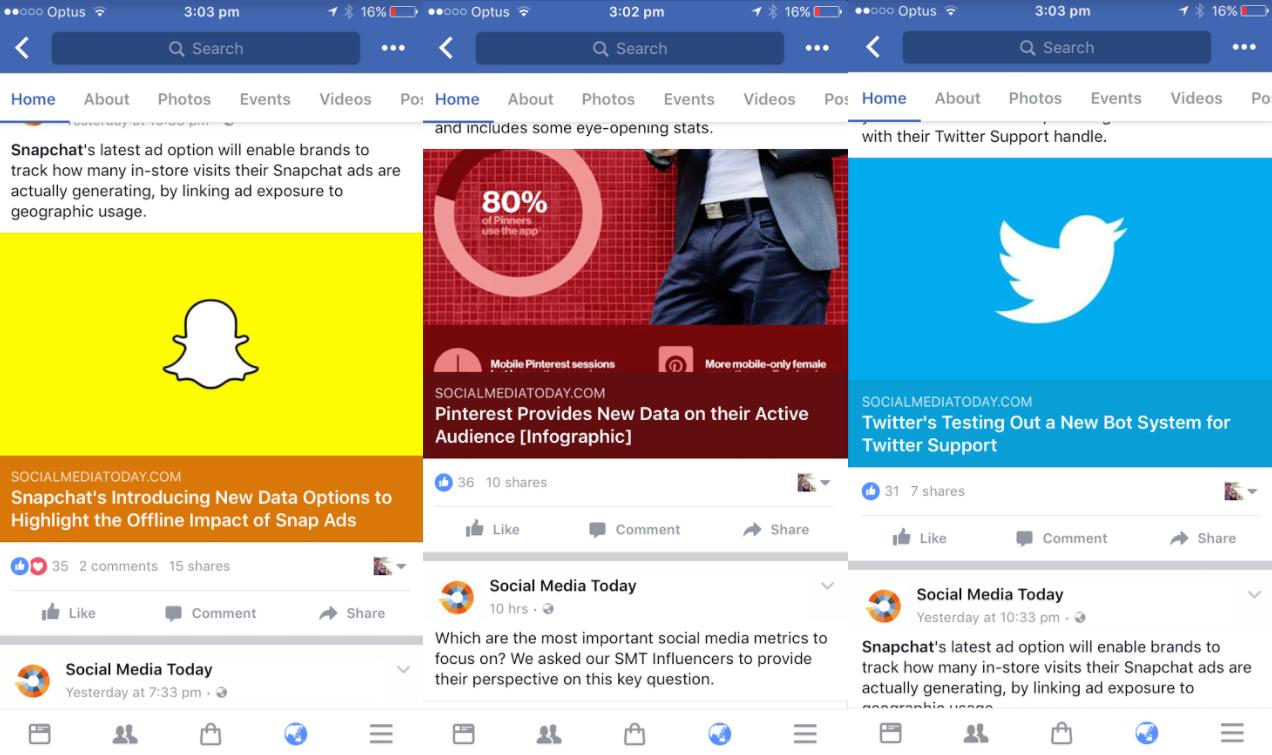 Facebook adaptive color links