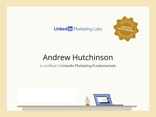 Certificado por LinkedIn