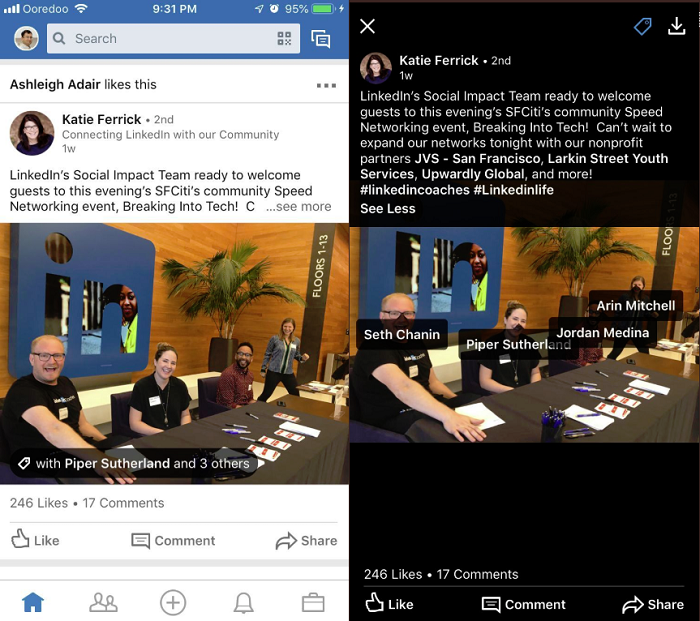 LinkedIn's Rolling Out Photo-Tagging, New Photo Stickers                      | Social Media Today