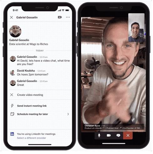 LinkedIn video meeting