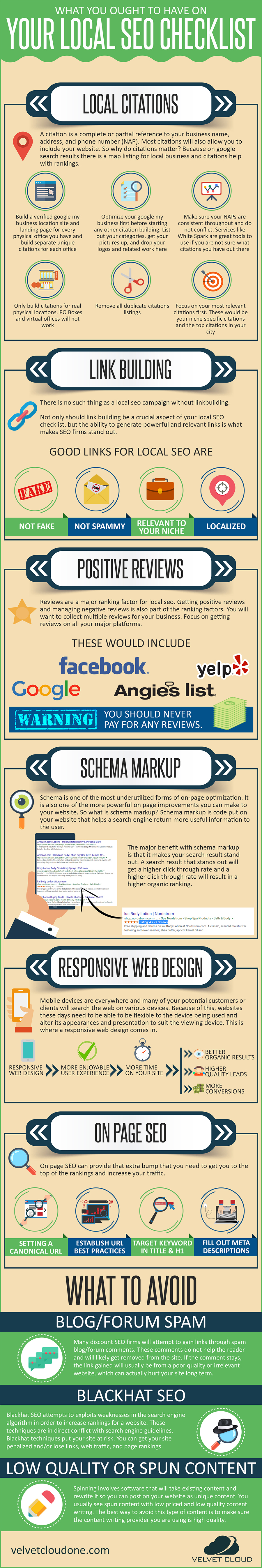 Infographic outlines a range of local SEO tips