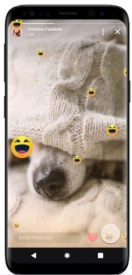 Messenger Stories reactions