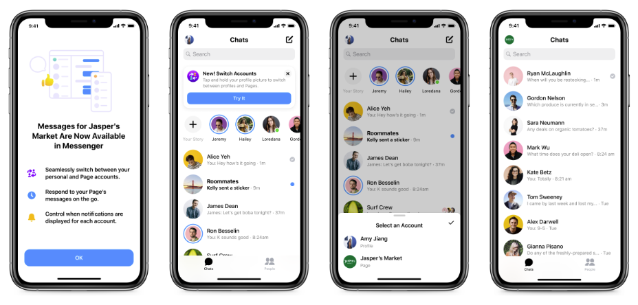 Messenger switcher