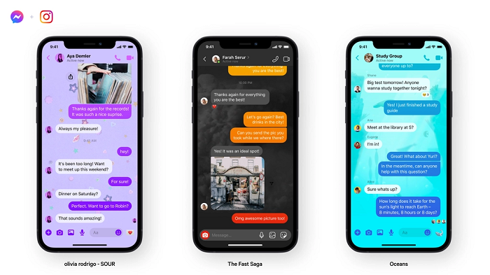 Messenger chat themes