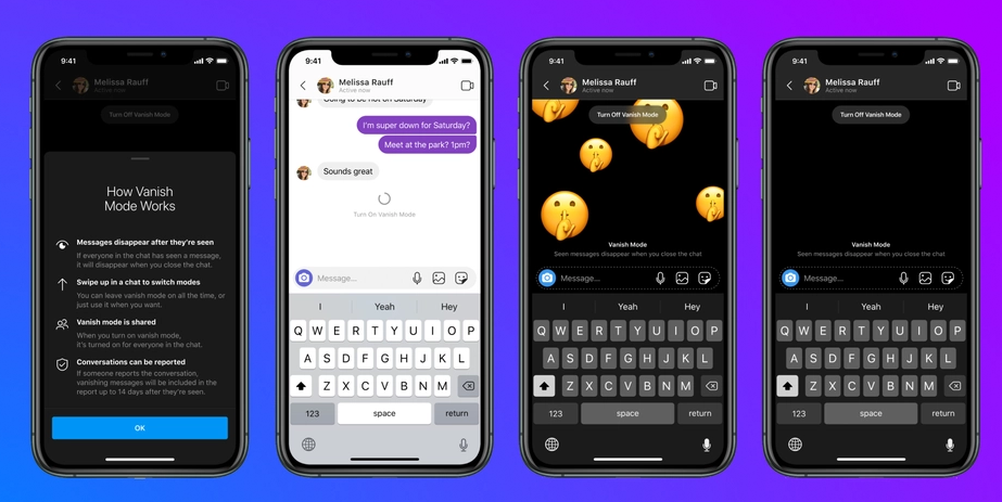 Facebook Adds New 'Vanish Mode' Disappearing Messages in Messenger