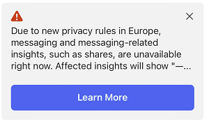 Messenger warning prompt