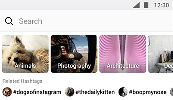 Instagram Explore topics