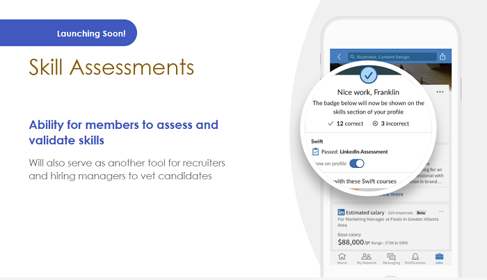 LinkedIn skill assesments