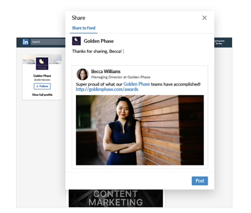 New LinkedIn Page functions [screenshots]