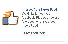 Facebook News Feed feedback