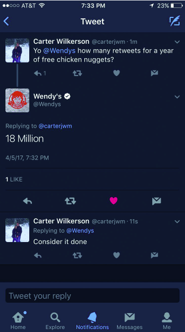 Wendy's nuggets tweet