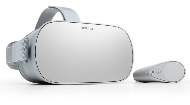 An Oculus Go headset