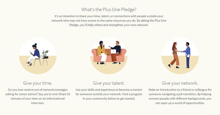 LinkedIn Plus One Pledge