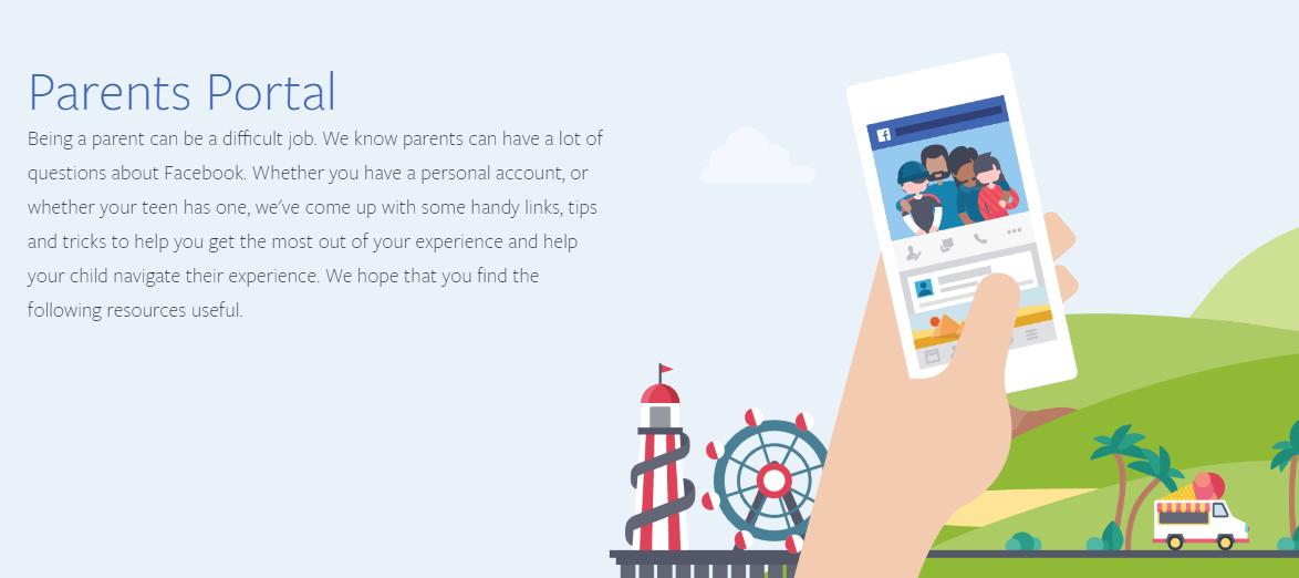 Facebook Parents' Portal screenshot