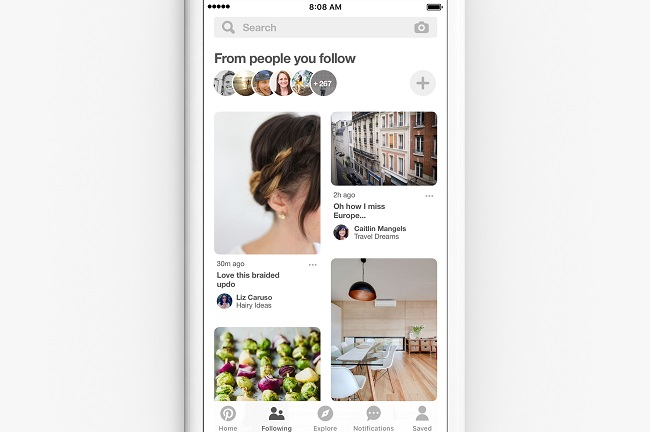 Pinterest Adds Following Tab, in Addition to Algorithm-Defined Recommendations
