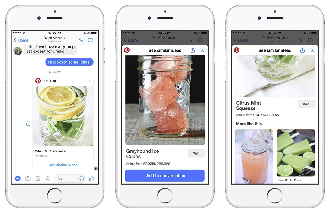 Pinterest Adds New Facebook Messenger Integrations to Boost Exposure and Usage | Social Media Today