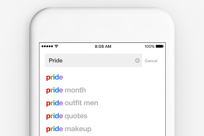 Pinterest Pride searches
