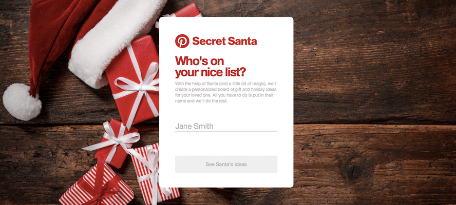 Pinterest Launches 'Secret Santa' Campaign to Drive Holiday Gift Purchases | Social Media Today