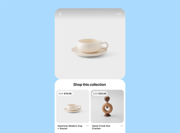 Pinterest presentation collections