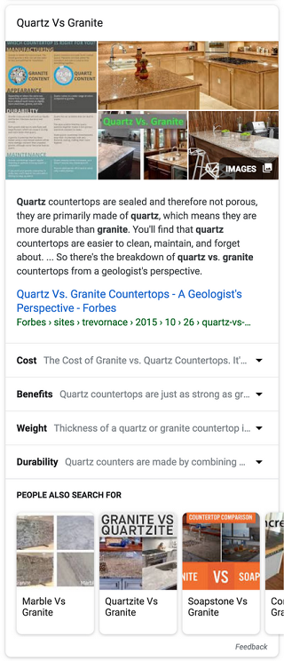 Google's new contextual search matches