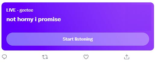 Twitter Spaces in progress