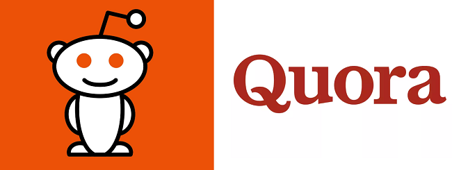 Reddit/Quora logos