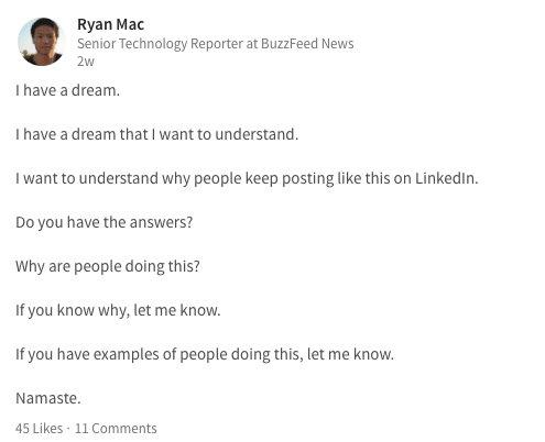 LinkedIn Broetry