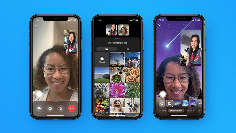 Messenger Rooms backgrounds