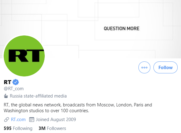RT Twitter account