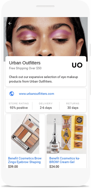 Showcase shopping ads in Google Images