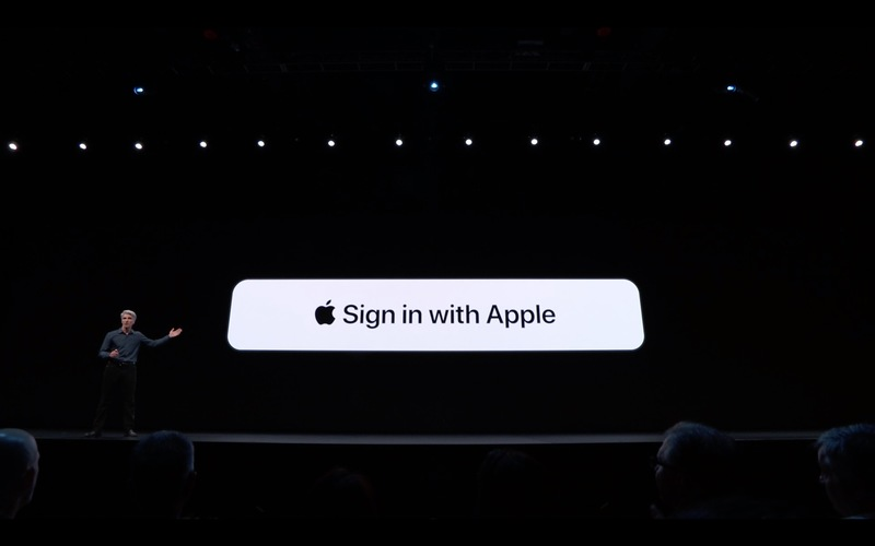 Sign in with apple screenshot from WWDC