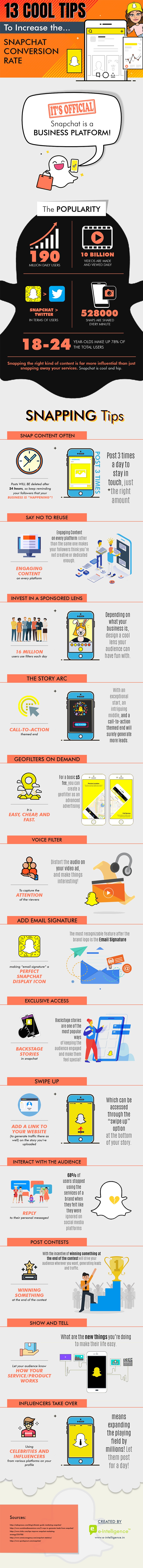 Snapchat tips infographic