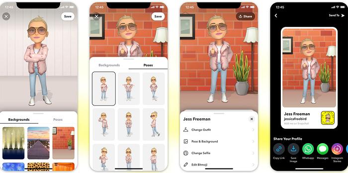 Snapchat 3D Bitmoji