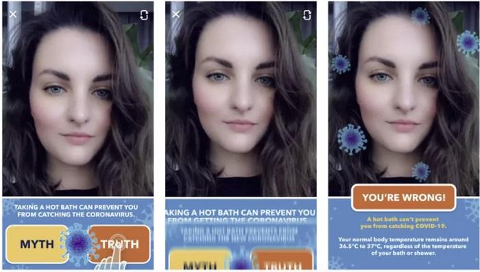 Snapchat COVID-19 AR game