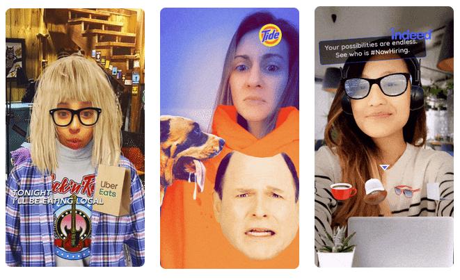 Snapchat Super Bowl AR campaigns