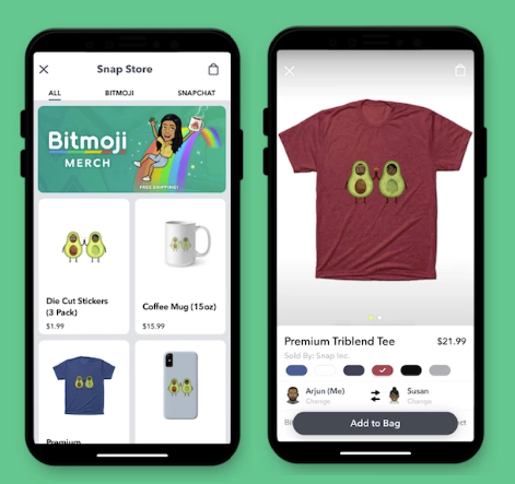 Snap Bitmoji products