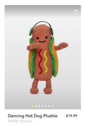 Snapchat Dancing Hotdog merch