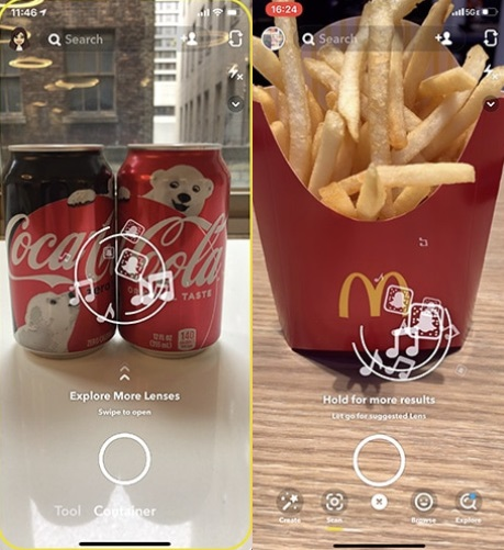 Snapchat scan examples