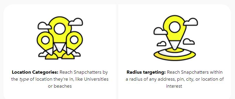 Snapchat agrega dos nuevas opciones de anuncios basados en la ubicación | Social Media Today
