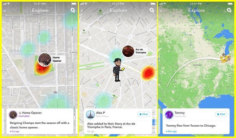 Snap agrega nuevas herramientas de descubrimiento para ajustar el mapa, destacando los eventos que suceden | Social Media Today