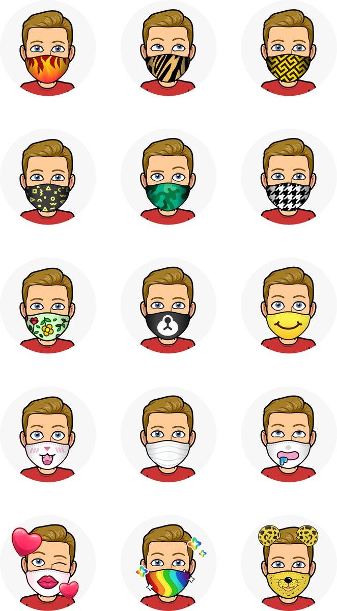 Snapchat Bitmoji masks
