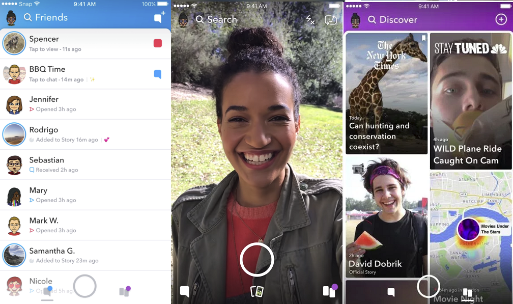 Snapchat Rolls Out Redesigned Redesign to Users | Social Media Today